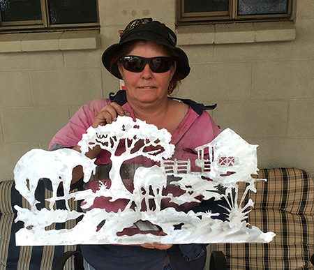 Tammy traces new career in metal art